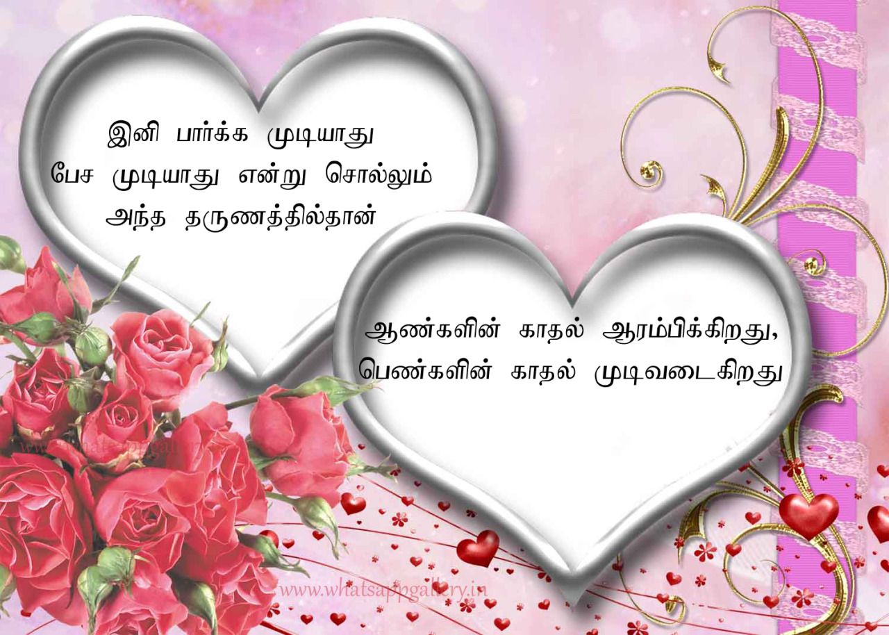 Share these best heart touching love quotes in tamil ...