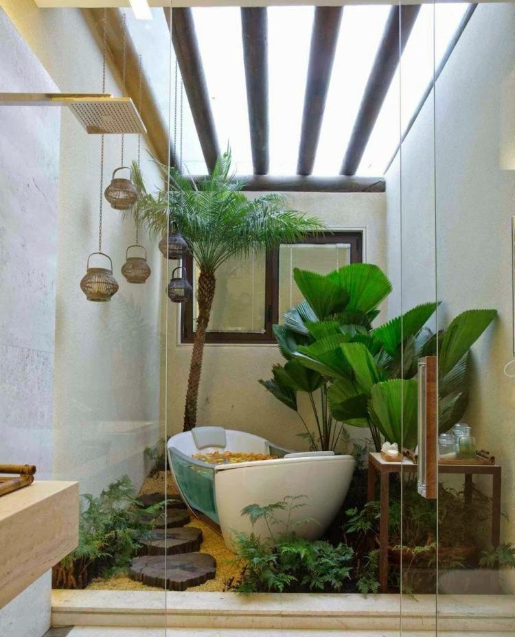 exotische pflanzen k nnen ihr bad versch nern wohntr ume in 2019 pinterest. Black Bedroom Furniture Sets. Home Design Ideas