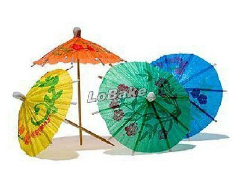Multi-color 10cm length Paper mini umbrella Cocktail Drink Stick Stirrer Party Decor for drinking