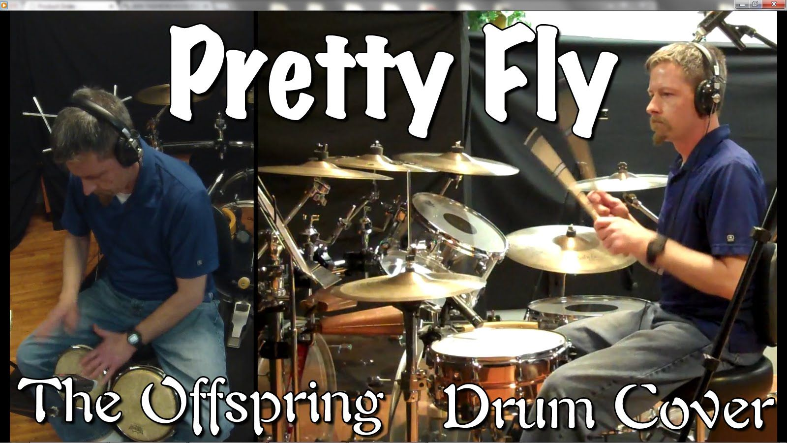 The Offspring - Pretty Fly Drum Cover with Bongos