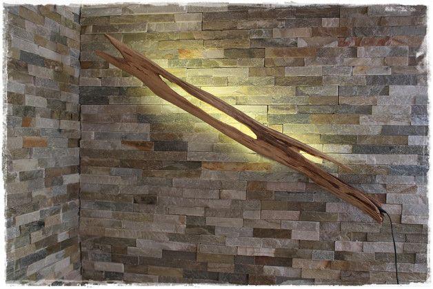 Wandleuchten - Wand-Leuchte aus Schwemmholz mit LED - ein