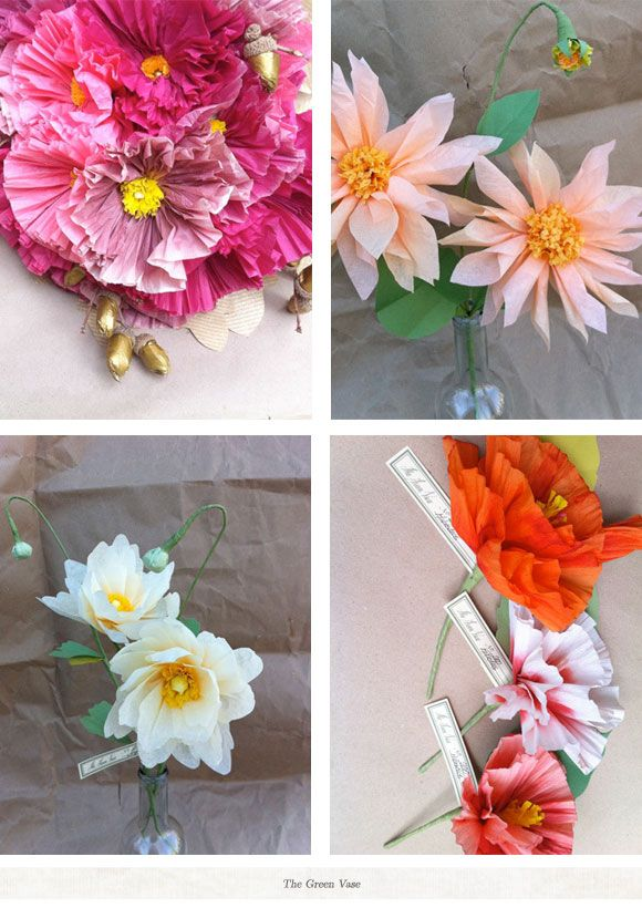 Tissue Paper Flowers Paper Projects Pinterest Tissue Paper