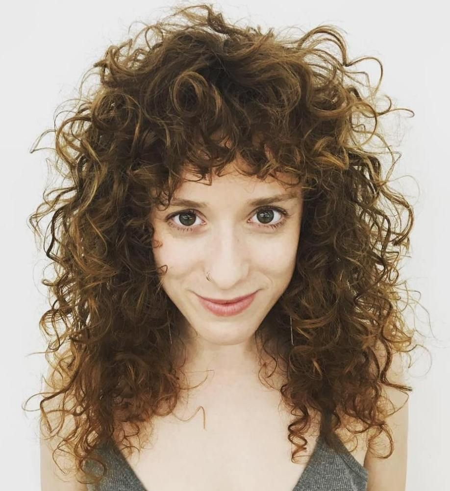 40 Cute Styles Featuring Curly Hair with Bangs Curly