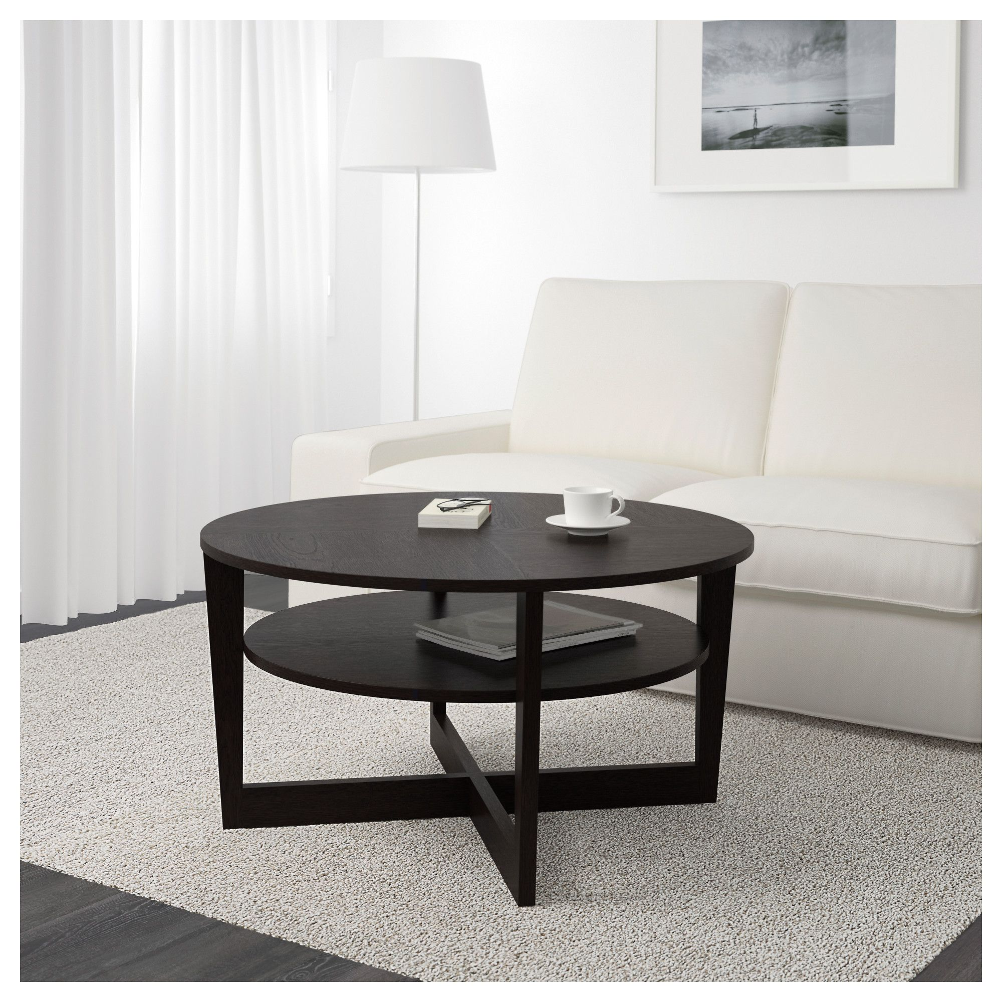 Ikea Malmsta Couchtisch Ikea Vejmon Coffee Table Black Brown My Home Decor Pinterest