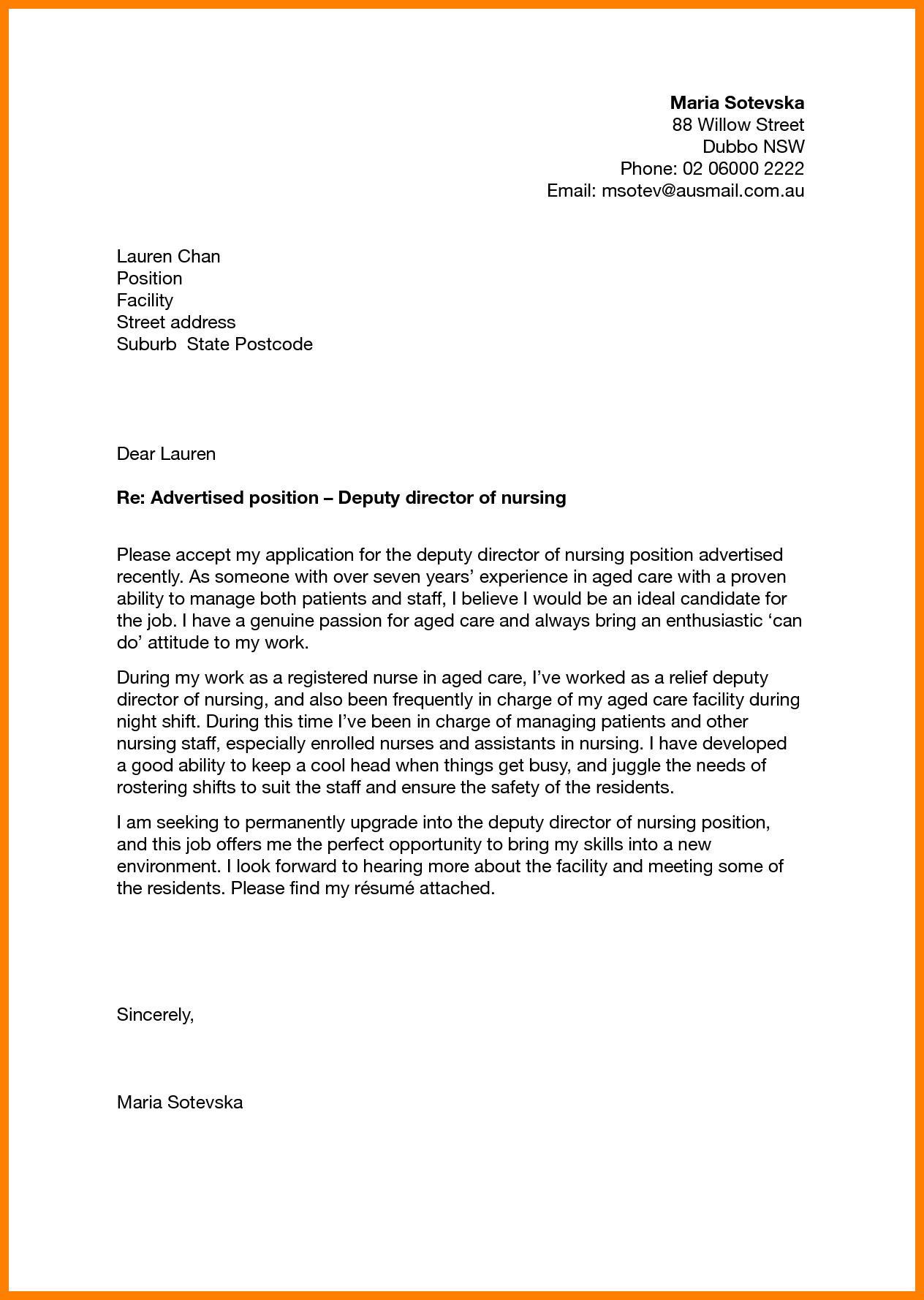 Cover Letter Example Director Examples Resume For Manager