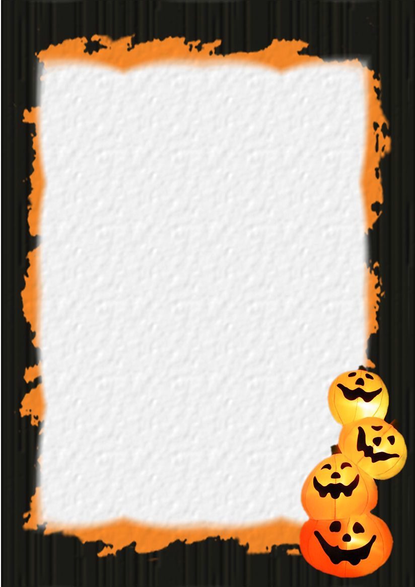 Halloween Stationery Table Of Contents Or Index Of Stationery Theme Free Digital