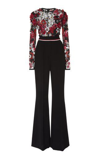 fa64ff5e489 Wide Leg Embroidered Jumpsuit by Elie Saab Resort 2019
