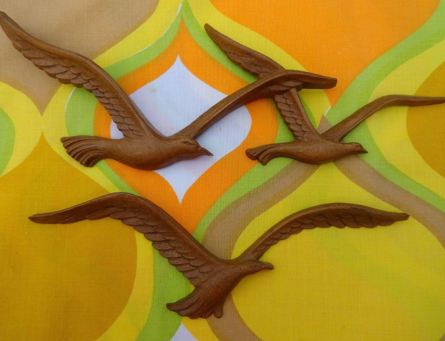 30.00 VTG 1970s MID Century Modern HOMCO Seagulls Birds Plastic Wood ...