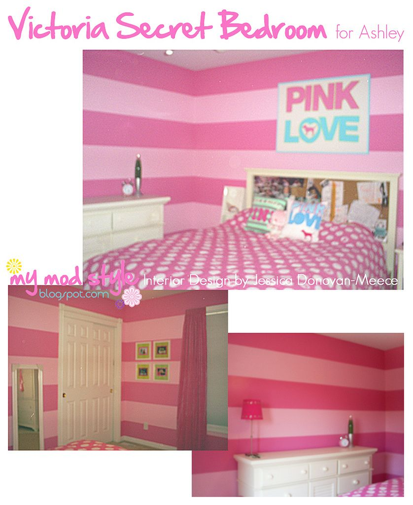 Victoria Secret room walls   too cute. OMG im so doing my room like this  this weekend it shall be done