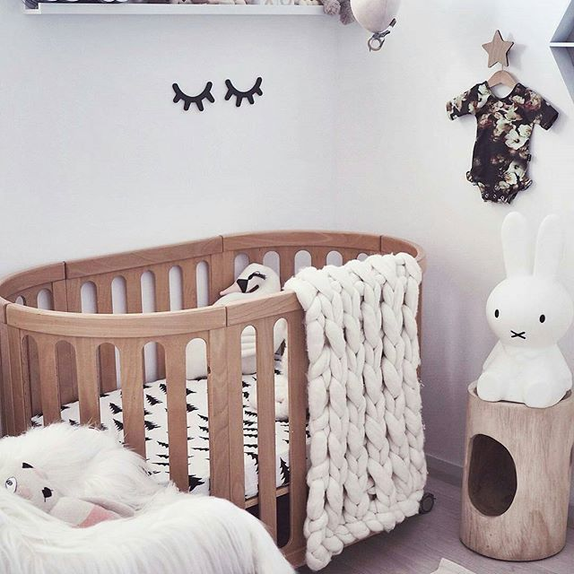 Beautiful, natural, and filled with love. How gorgeous is this nursery by the clever @sassandspice? I love the wood touches, just gorgeous ♡ If I had to style a nursery today, I honestly don't know if I'd go natural, just white, grey, beige and wood, or full to the brim with colour. Lucky I'm not styling a nursery anytime soon! #notpregnant w w w . m i l k t o o t h . c o m . a u
