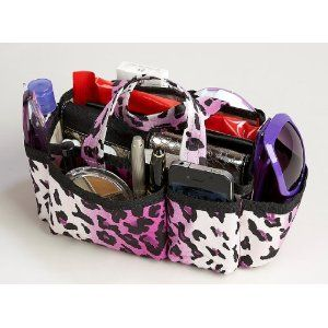 Lexie Purple Leopard Print Handbag Bag Purse Tote Organizer bought this off amazon for 12.99 and totally worth it!!! Such a great thing to have and keep the inside of my purse organized!