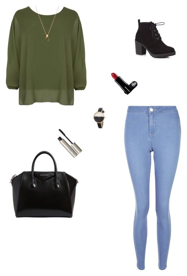 """Untitled #8"" by inessesamaa-1 ❤ liked on Polyvore featuring New Look, WearAll, Red Herring, Givenchy and Ilia"