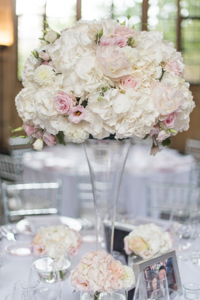Beautiful Blush pink and white rose, peony and hydrangea ...