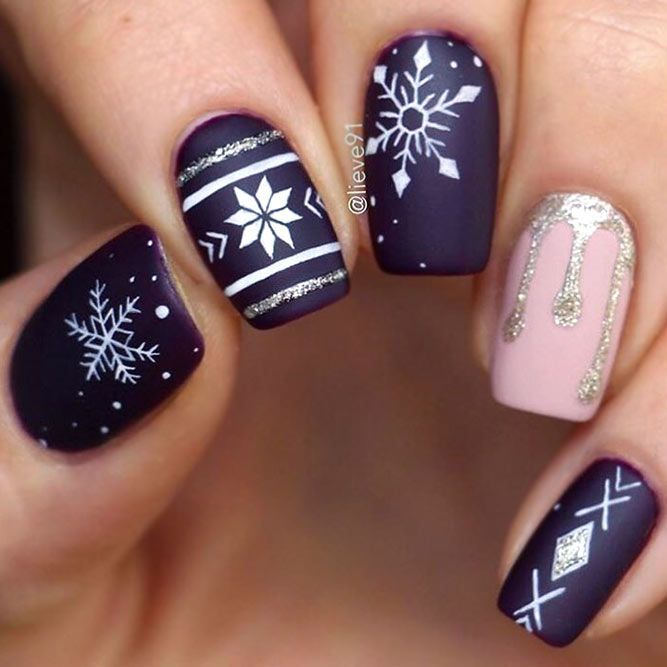 48 popular ideas for Christmas nail designs in 2018 – Catherine Pamer – daily pin blog