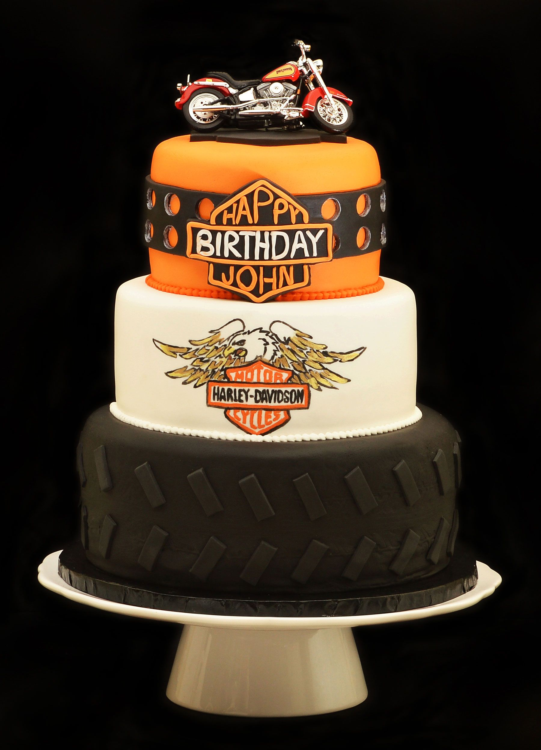 Harley Davidson Cake With Images Motorcycle Birthday Cakes