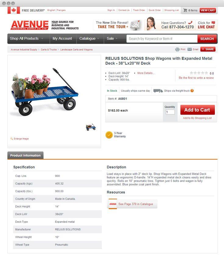 www.avenuesupply.ca #ecommerce #episerver