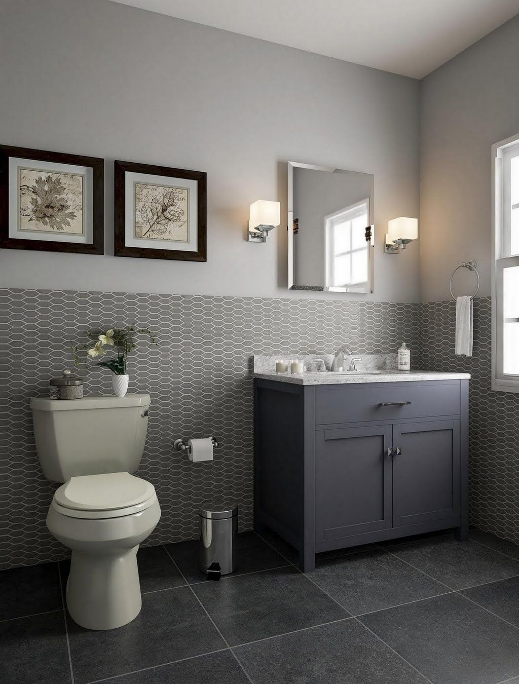 Gray Bathroom With Wainscoting Bathroom The Home Depot Small Bathroom Remodel Small Bathroom Ideas On A Budget Home Depot Bathroom