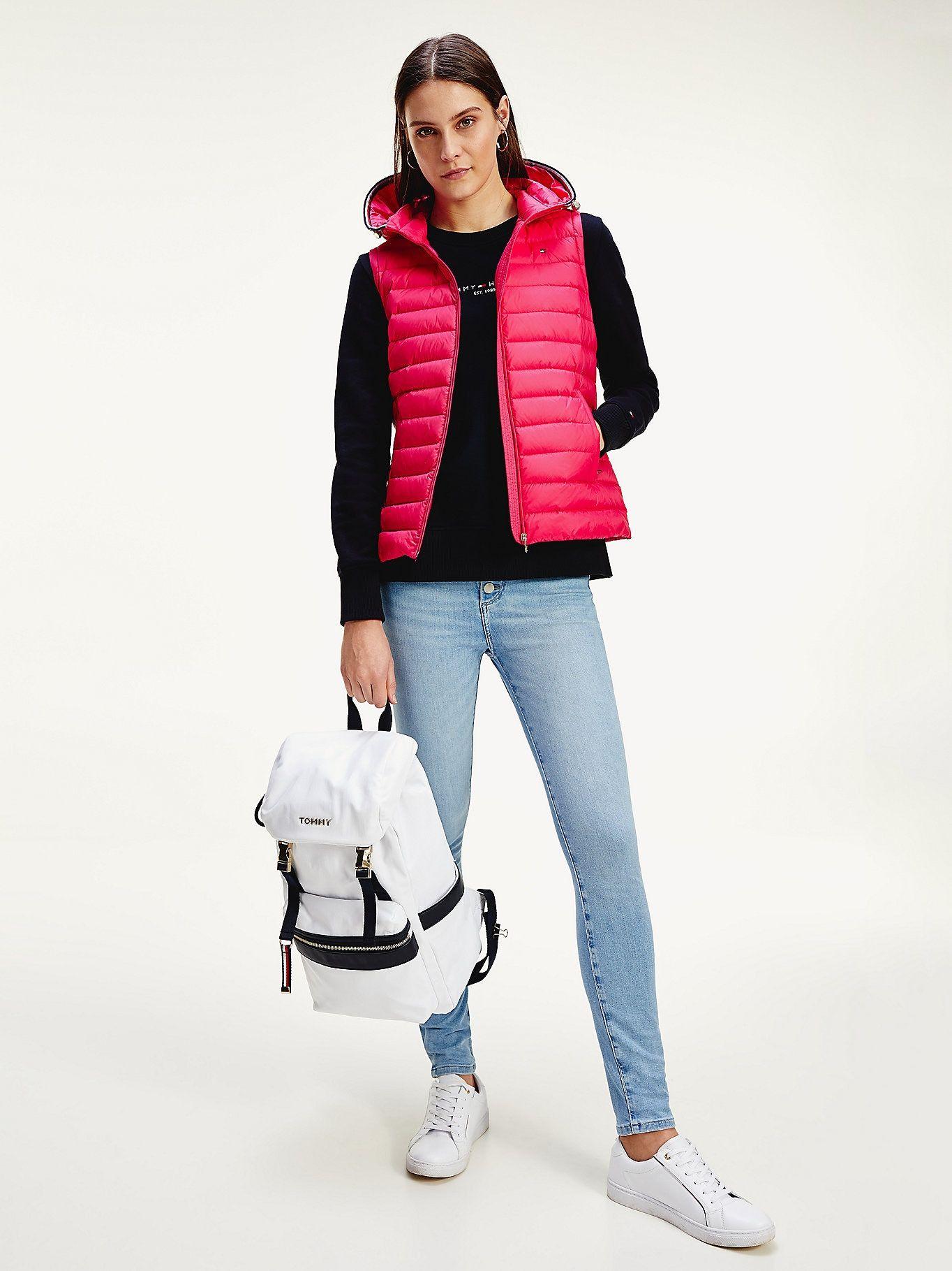 Essentials Packable Down Vest Pink Tommy Hilfiger Women S Coats Jackets Outerwear Jackets Hilfiger [ 1819 x 1364 Pixel ]