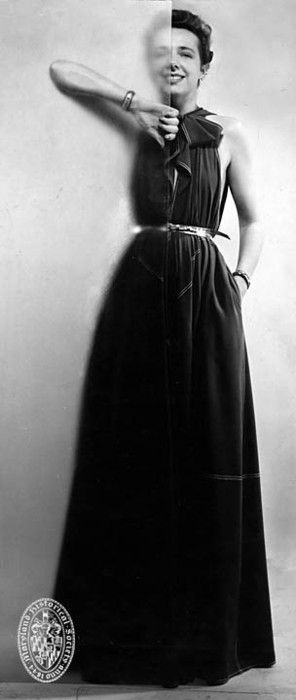 Born in Frederick, Maryland, Claire McCardell was an internationally recognized fashion designer. McCardell first enrolled in Hood College (Frederick) and later in Parsons (N.Y.C.) in order to pursue a career in fashion. Later in her career, McCardell returned to Parsons as critic and instructor.
