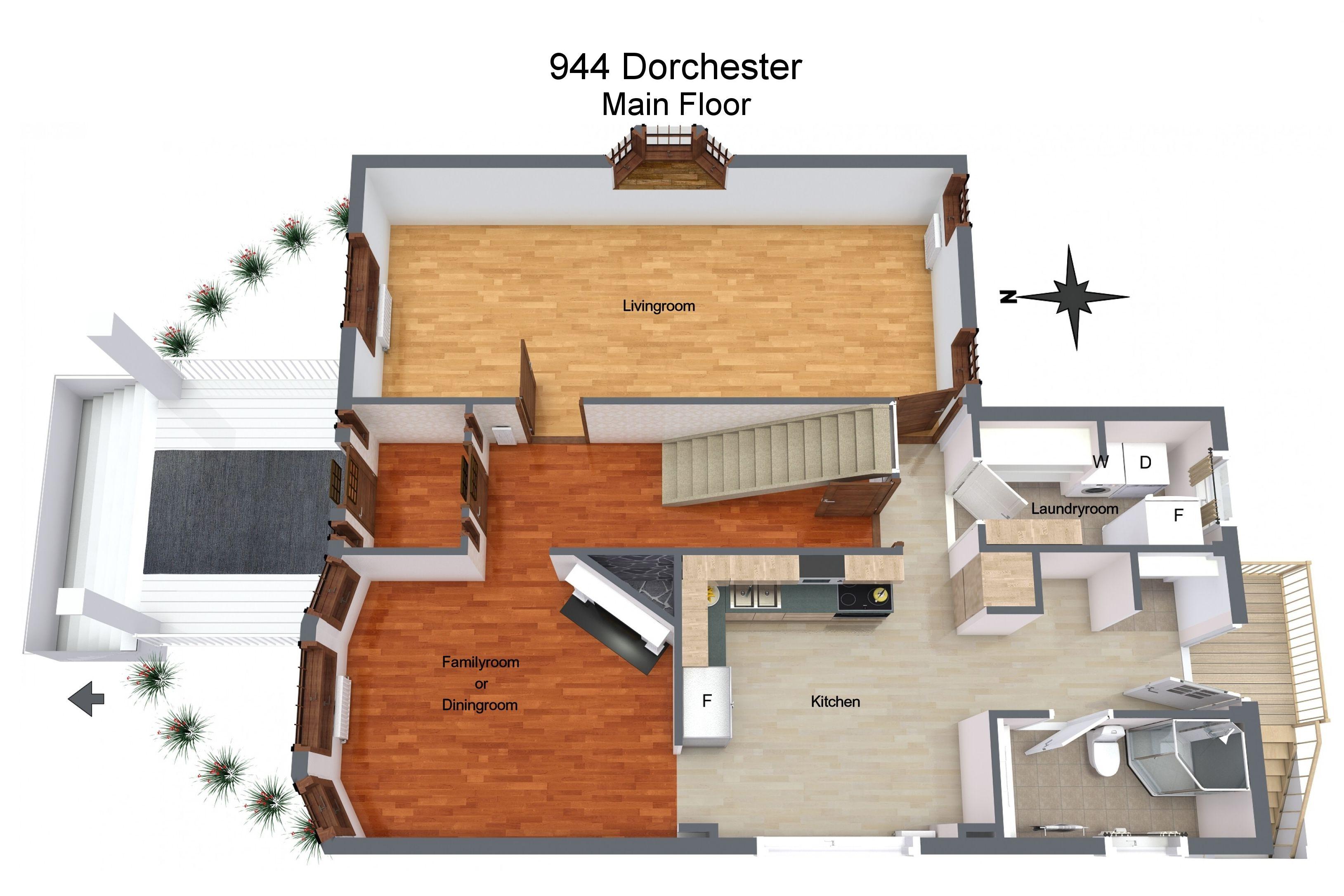 944 Dorchester Avenue, Winnipeg Level 1 Floor plans