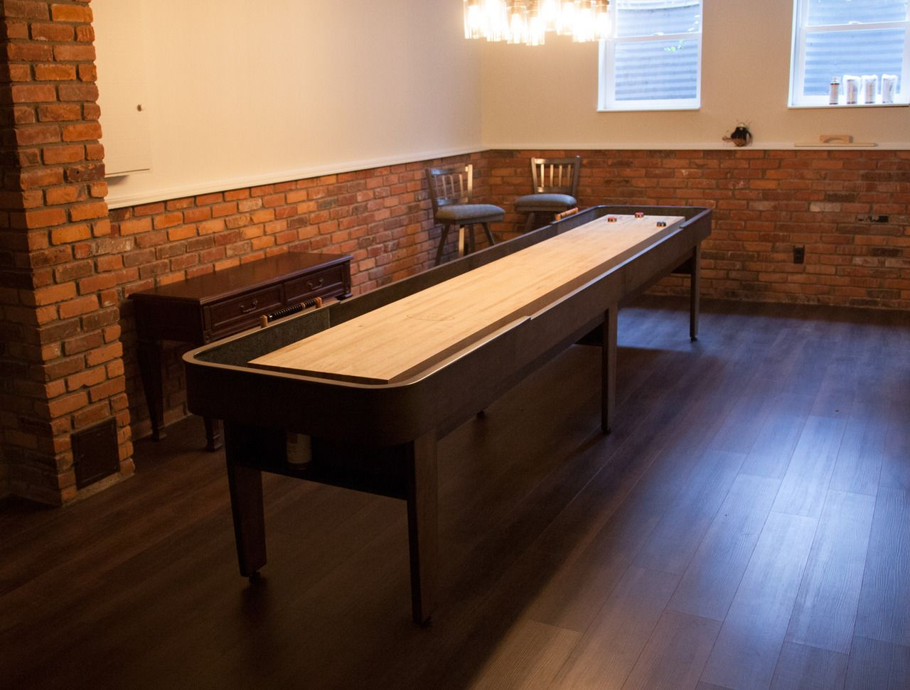 Order Your Handcrafted Shuffleboard Table At McClure Tables. Made In  Michigan Using Hard Maple Cabinet