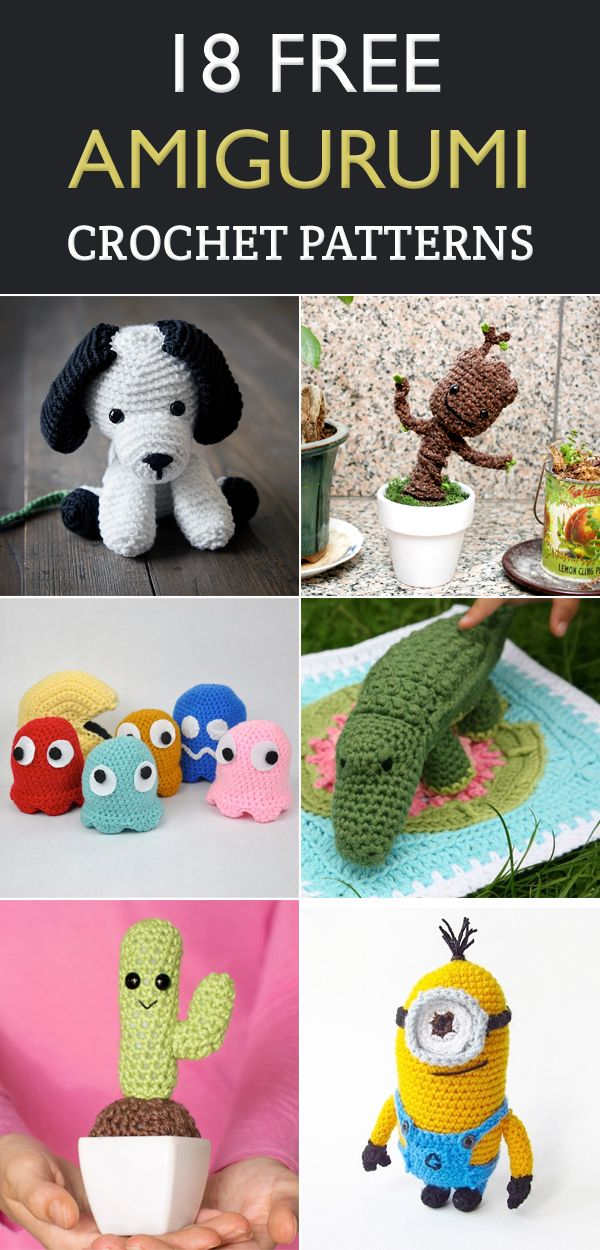 18 Free Amigurumi Crochet Patterns | Pinterest | Amigurumi, Crochet ...