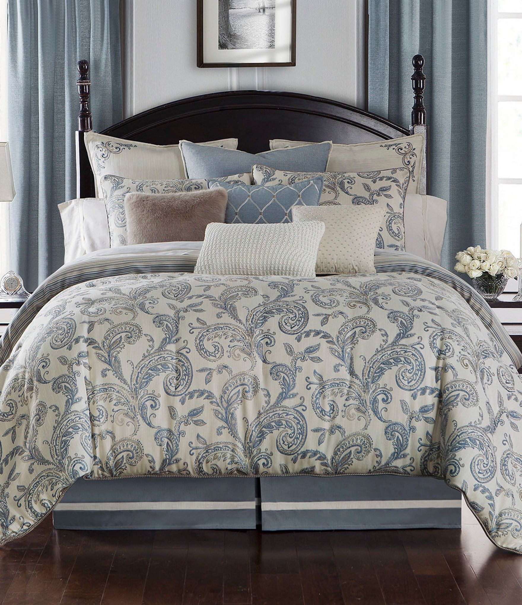 Waterford Florence Paisley Duvet Mini Set Dillards