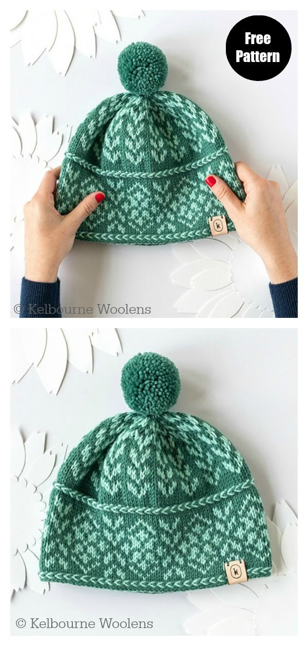 Photo of 5 Fair Isle Hat Free Knitting Pattern