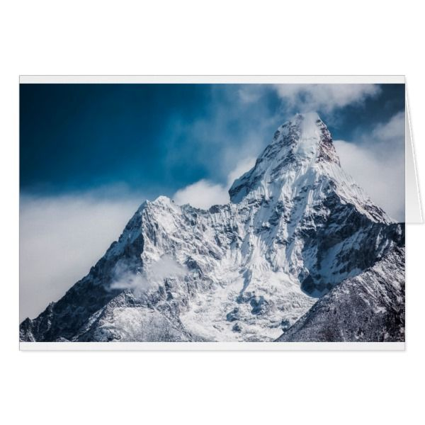 Ama Dablam Himalaya Abstract Mountains Holiday Card Zazzle Com