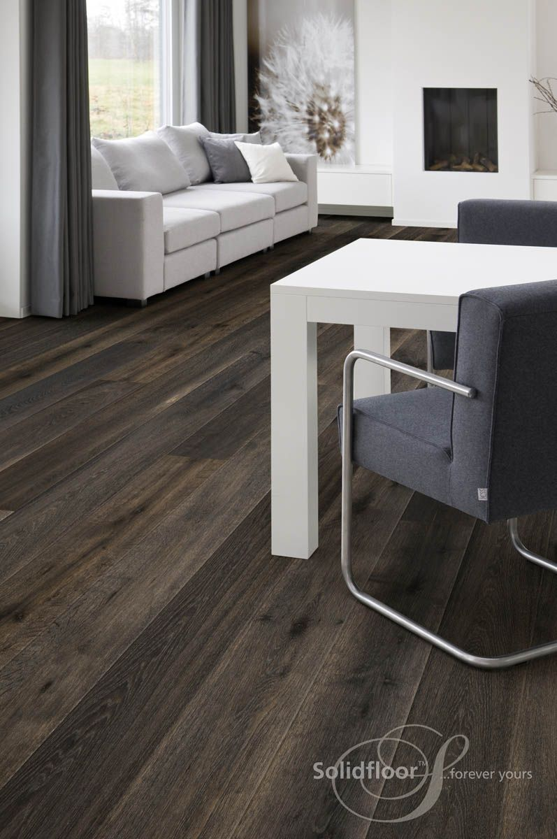 Dunkles Parkett landhausdiele atlantic aus der lifestyle collection solidfloor