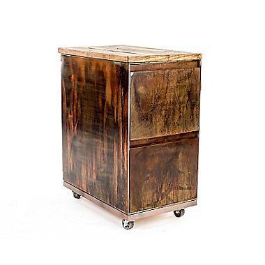 Urban 95 2Drawer Mobile Vintage File Cabinet Paper ClipsHolders