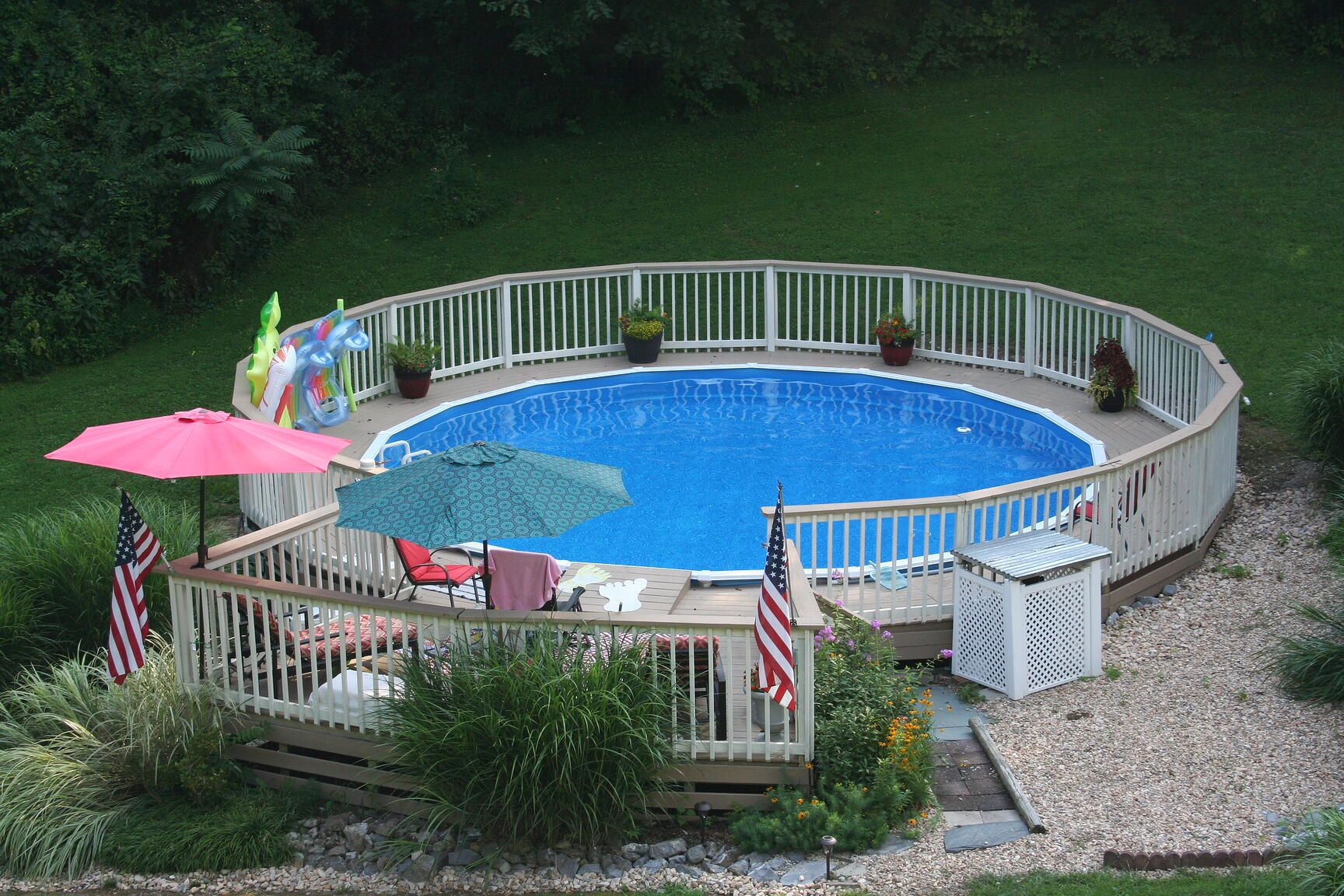 How to put an above ground pool on a hill in 2020 pools