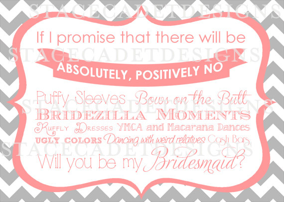 Be My Bridesmaid Template | Custom Printable Bridesmaid Survival Kit Card Digital File My