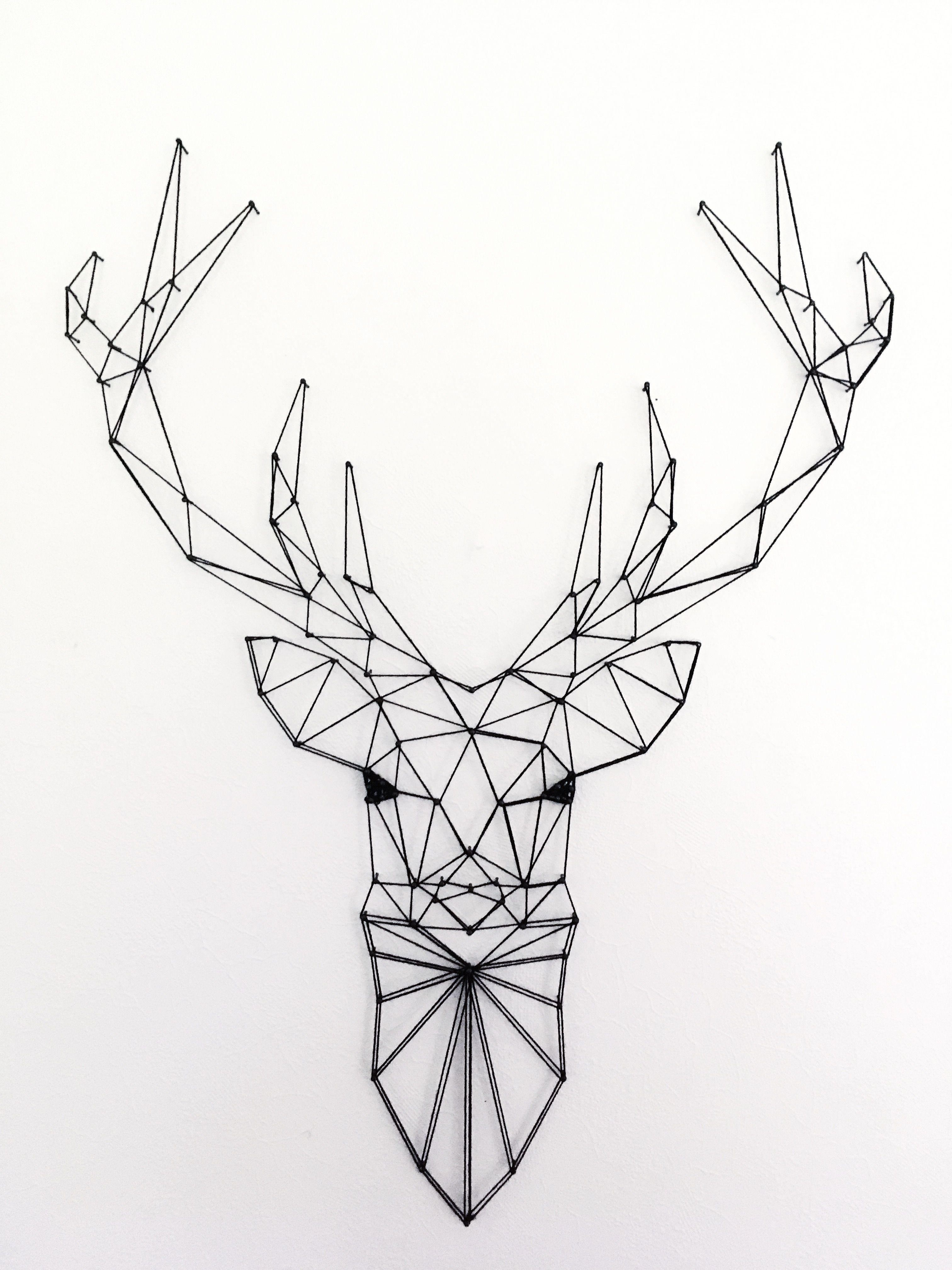 Deer Geometric Geometricdeer Geometricanimals Handmade Stringart
