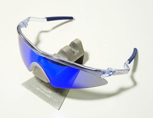oakley m frame sweep crystal clear blue iridium