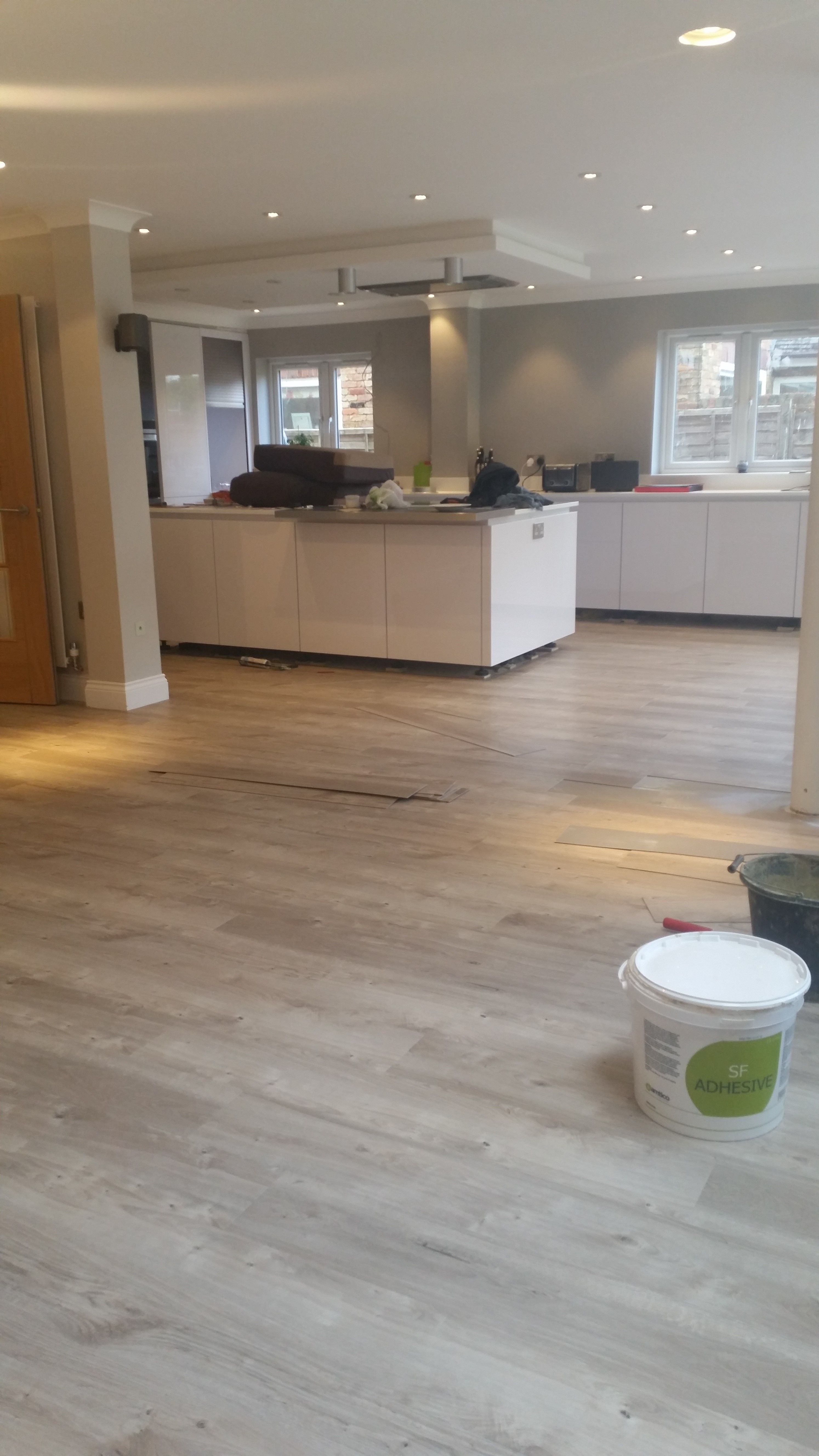 Commercial Kitchen Wall Covering And Bathroom Remodeling @amticoflooring Spacia Strip Wood 'sun Bleached Oak ...