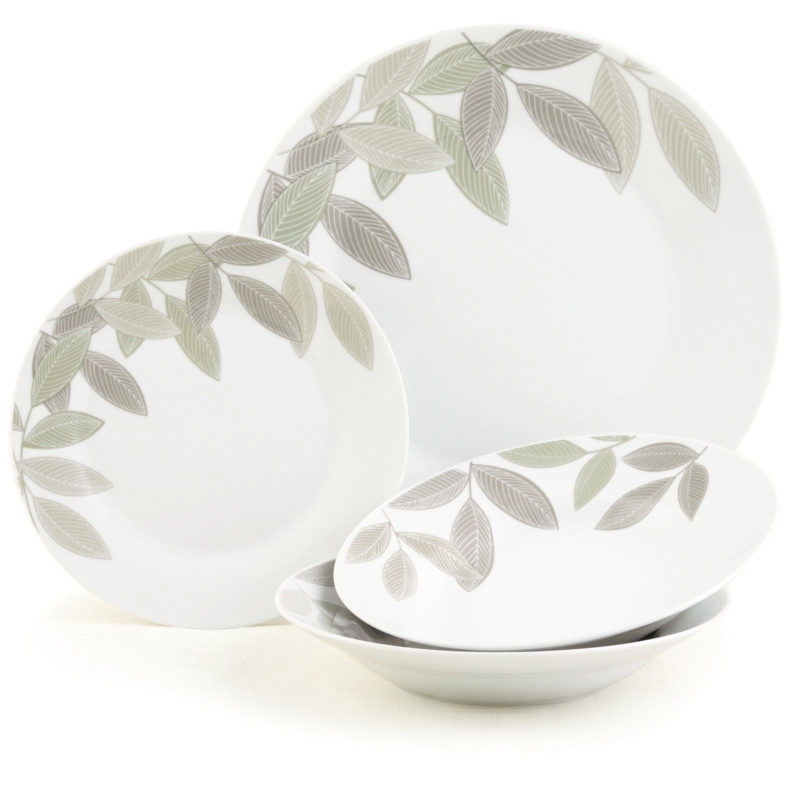 12pc Laurel Leaf Dinner Set NOW £12.96 This is dining made stylish by Sabichi  sc 1 st  Pinterest & 12pc Laurel Leaf Dinner Set NOW £12.96 This is dining made stylish ...