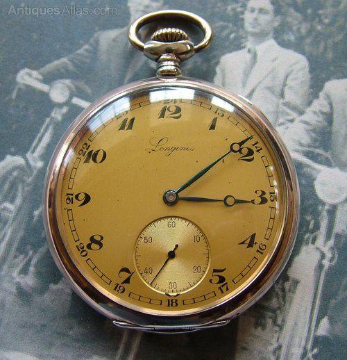 9c13827cc9a Antiques Atlas - A 1950s Longines Pocket Watch