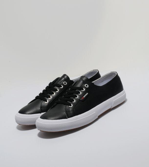 best sneakers 24cf9 ddff0 SUPERGA 2750 Leather | Size? | Fashion | Leather, Superga ...