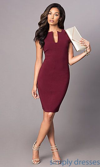 88371a143 Cap-Sleeve Knee-Length Short Magenta-Purple Dress