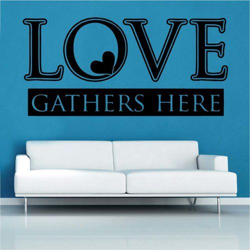 East Urban Home Love Gathers Here Decal Vinyl Wall Sticker Black Wall Stickers Vinyl Wall Stickers Childrens Wall Stickers