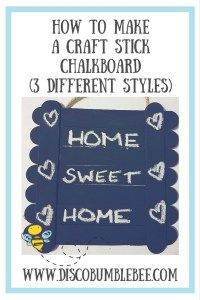 craft stick chalkboard