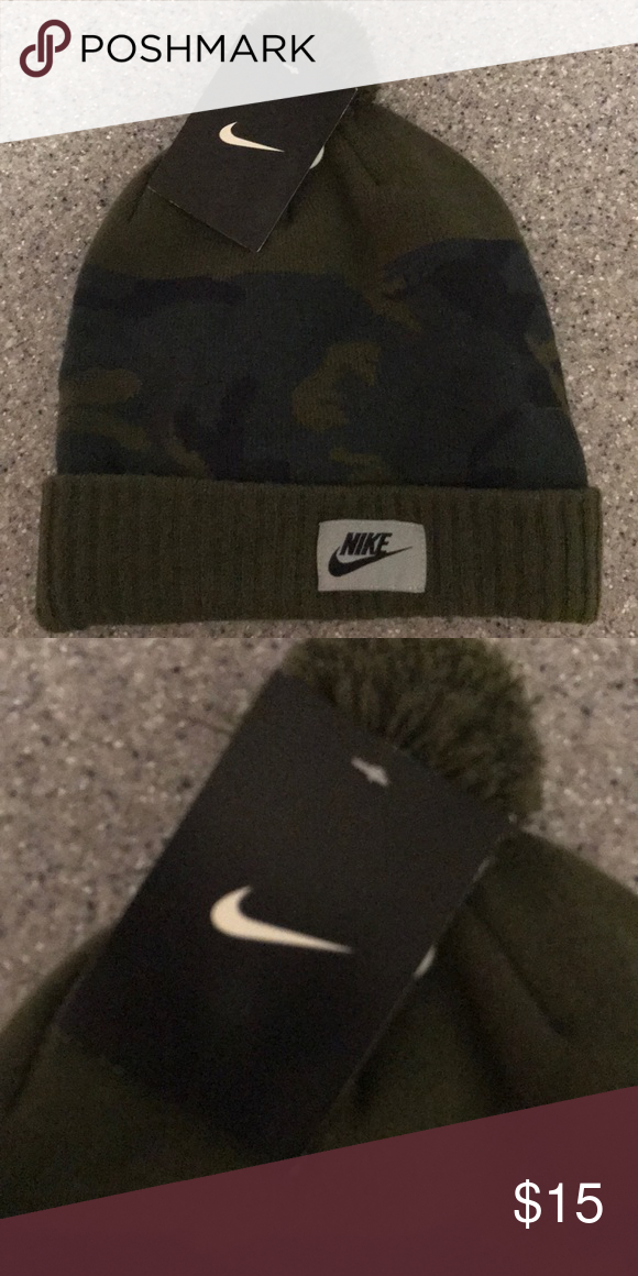 a0ecec6dc28 New  30 Nike Men s beanie hat camo green New Nike Accessories Hats