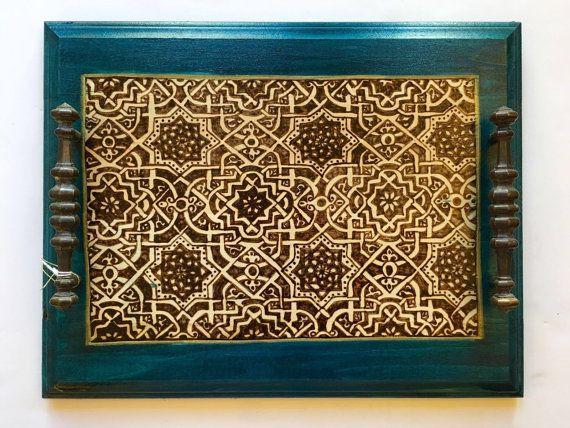 "Decorative Trays Impressive 11 X 14"" Decorative Tray Nasrid Art Medieval Art Spanish Art Review"