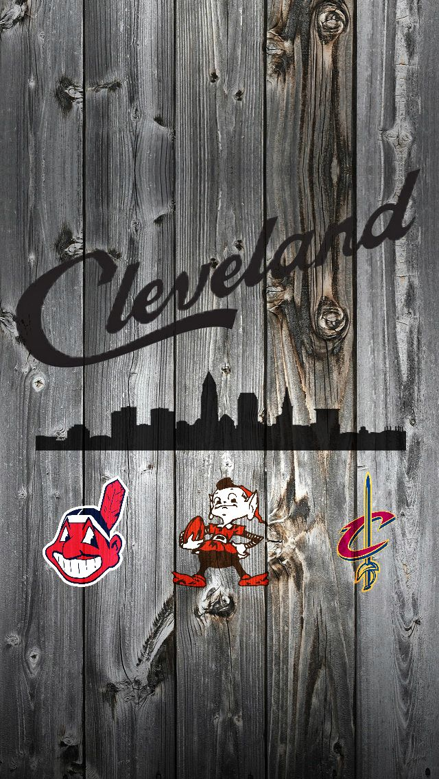 Cleveland Script and Skyline iPhone background | Cleveland ...