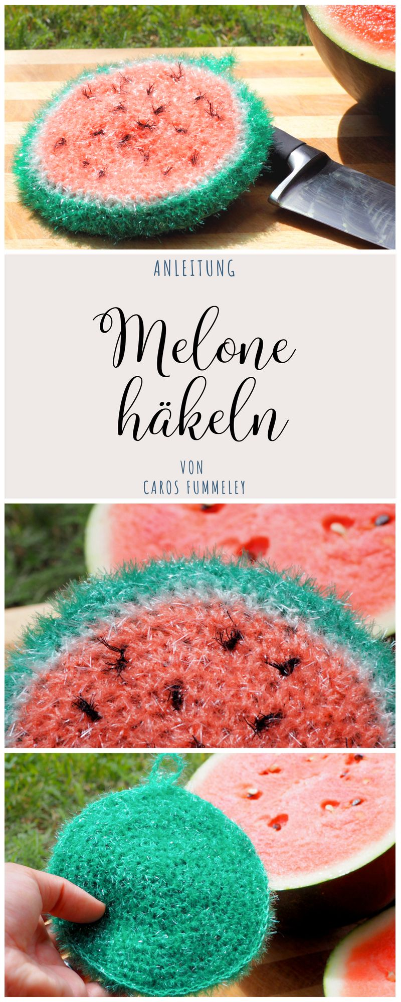 Melone Häkeln Spülschwamm Anleitung German Diy Blogger