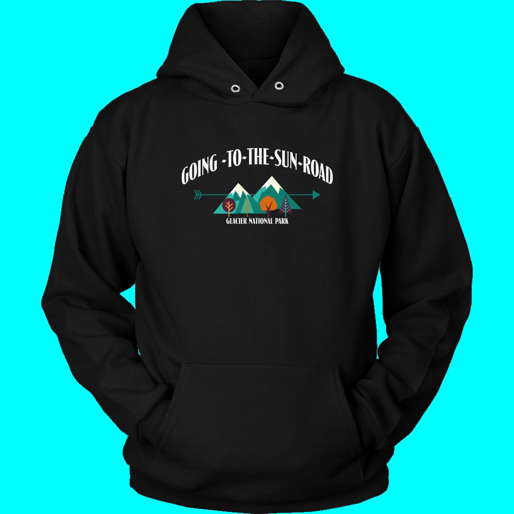 Going To The Sun Road Hoodie Glacier National Park design. GNP. Glacier apparel. Montana hoodie.