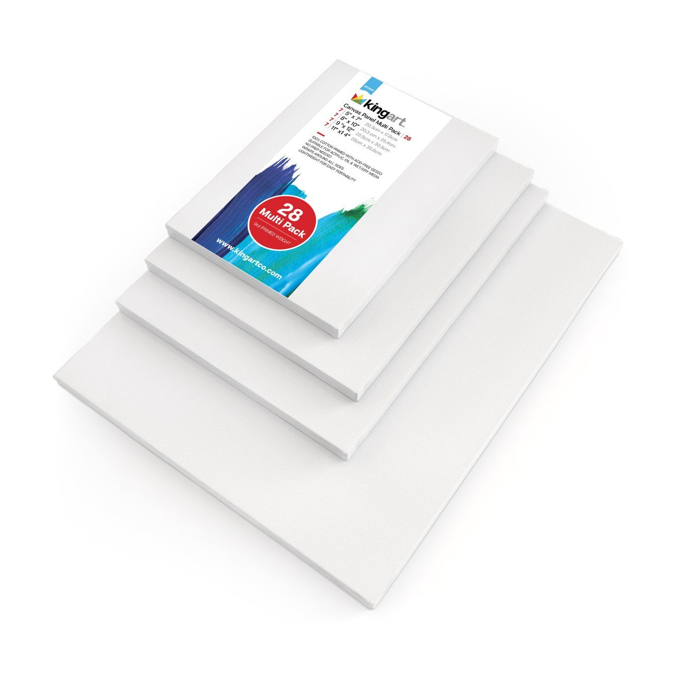 Canvas Panel Multi 28 Pack 7 Each 5 X 7 8 X 10 9 X 12 11 X 14 In 2020 Canvas Packing Canvas Board