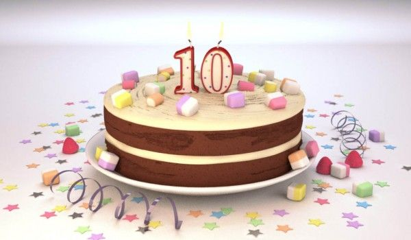 gateau anniversaire enfants birthday cake 10 ans 3d. Black Bedroom Furniture Sets. Home Design Ideas