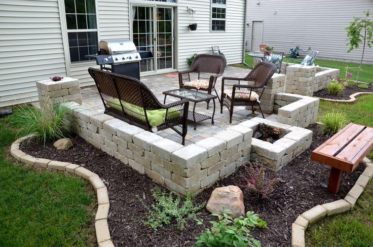 Diy Backyard Stone Paver Patio Tutorial Check Out The Patio
